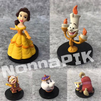 Action Figure Belle Beauty and The Beast set of 5