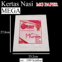 KN mega paper 100lbr kertas nasi kertas kfc kertas minyak kertasmakan thumbnail