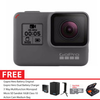 GoPro Hero5 / GoPro Hero 5 Black Combo 3 Way Extreme Charger 16GB