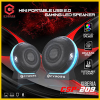 TERBARU SPEAKER GAMING LED CYBORG 209 SPEAKER POWERFULL BASS