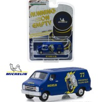 Greenlight 1/64 1977 Dodge B100 Van Michelin Tires Running on Empty 7