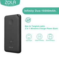 Zola Powerbank Wireless Infinity Duo 10000mAh Untuk Hp & Apple Watch