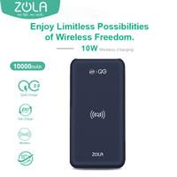 Zola Infinity Wireless Fast Charging 10W Powerbank 10000mAh PD & QC3.0