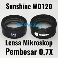 Original Sunshine WD120 Lensa Mikroskop Pembesar 0.7X Lensa Microscope