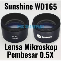 Original Sunshine WD165 Lensa Mikroskop Pembesar 0.5X - Lensa Pembesar