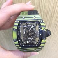 Jam Tangan Pria Richard Mille 50-27 Carbon Swiss Clone 1:1