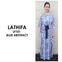 Just Mom Nursingwear Kaftan Menyusui Lathifa Blue Abstract LF101