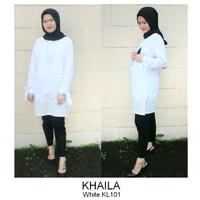 Just Mom Nursingwear Baju hamil menyusui KHAILA White KL101