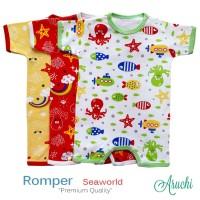 ARUCHI ROMPER Pendek Segiempat Premium SML 0 -12 bulan