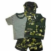 Cool Army - Baju Setelan Bayi Tentara Baju Tentara Anak Bayi