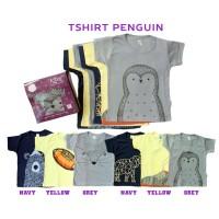 Kazel T-Shirt Penguin Pinguin Bayi Unisex Bahan Halus cherrybabykidssh