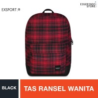 Exsport Delanoir Lite Red Tartan (L) Backpack - Black