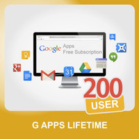 Account G Apps / G Suite Seumur Hidup 200 User