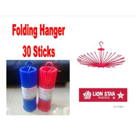 Folding Hanger 30 Sticks Jemuran Pakaian - Lion Star