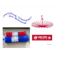 Folding Hanger 24 Sticks Jemuran Pakaian - Lion Star