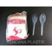 SENDOK MAKAN PLASTIK BENING / SENDOK BEBEK MERK PHOENIX @144 PCS