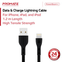 Promate Kabel Data Charger iPhone - PowerBeam-i Lightning Charge Cable