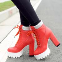 Boots women orange