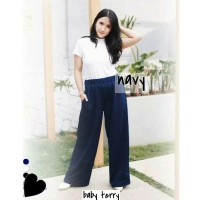 Sumber Fashion Celana Wanita Mimi Kulot Polos Mimi Jumbo
