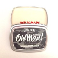 POMADE NEW OH MAN OHMAN ARMY CLAY PROFESSIONAL MATTE WATERBASED FREE