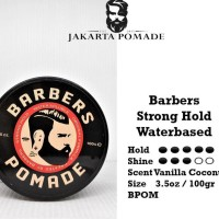 Barbers Pomade Strong Hold Waterbased 4oz