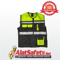 Rompi Inspector Hijau 6 Kantong / Safety Vest Scotlight Jaring GOSAVE