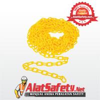 Rantai Plastik 6 MM X 50 M Kuning TORA / Rantai PVC