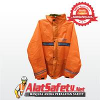 Jas Hujan / Mantel / Mantol / Raincoat (Jaket+Celana) ALXO Orange