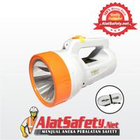 Senter (L-2627B) LUBY / Senter + Lampu Led Rechargeable Handlight