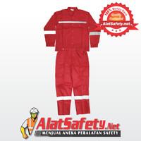 Wearpack / Baju kerja & Celana Kerja Merah / Wearpack Setelan Vin Safe