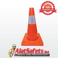 Traffic Cone Karet 45 cm / Pembatas Jalan / Segitiga Pengaman Kerucut