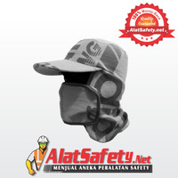Masker Topi / Topi Pekerja Lapangan / Topi Jepang / Mancing Anti Panas