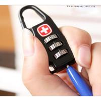 Swiss Password Code Lock Gembok Koper Tas Pengaman Tas Padlock Travel