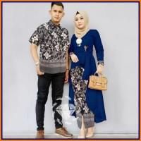 Terbaru Batik Couple Baju Pesta Sarimbit Gamis Kebaya Couple Muslim -