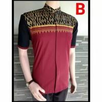 Harga baju koko pria batik kombinasi bordir busana muslim termurah model | antitipu.com