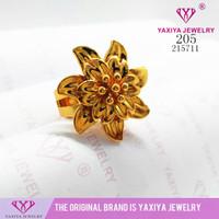 Cincin Bunga Kendari Lapis Emas Perhiasan Imitasi 205