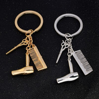 Gantungan Kunci Barber Shop Hair Stylist Salon Keychain