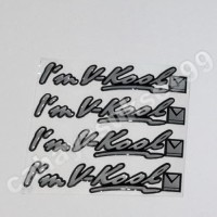 Stiker Kaca Mobil Timbul Im VKOOL Sticker Emblem Resin 8cm Paket 4pcs