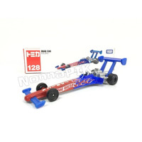 Tomica Long 128 Drag Car (Blue Red) Original