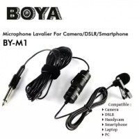 BOYA BY-M1 - Clip-on 3.5mm Omni Directional Lavalier Mini Microphone
