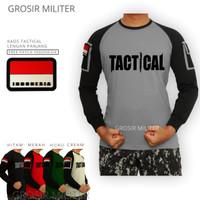 Kaos Tactical Lengan Panjang Gratis Patch
