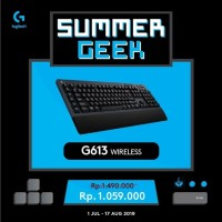 LOGITECH G613 KEYBOARD GAMING WIRELESS MECHANICAL GARANSI 2THN