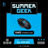 LOGITECH G402 HYPERION FURY ULTRA-FAST FPS GAMING MOUSE Garansi 2thn