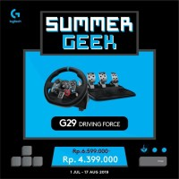 LOGITECH G29 DRIVING FORCE WHEEL For PS3 PS4 and PC GARANSI 2TH