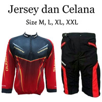 Paket Kaos Jersey Sepeda Baju dan Celana Sepeda Padding Busa Terlaris