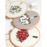 Etsy Handmade Embroidery Bouquet Flower 3D