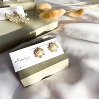 DearMe - LOIS Earrings (S925 with NATURAL PEARL + 14K gold plating)