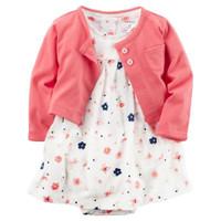 Baju Bayi Perempuan Jumper Romper Cardigan Dress Carter