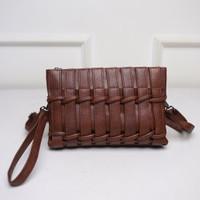 Tas Brown Jinjing Selempang Handbag clutch wanita unik coklat 21405