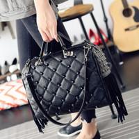 tas wanita hitam handbag stud import selempang besar 21538 korea batam